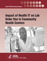 Impact of Health IT on Lab Order Use in Community Health Centers