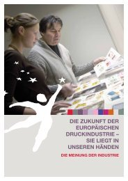 Die Zukunft Der europäischen DruckinDustrie – sie liegt in ... - Intergraf