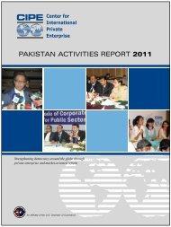 2011 Pakistan Activities Report - Center for International Private ...
