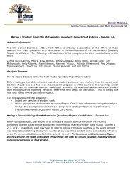 Gr 3-6 Report Card Rubric Memo 11.2011.pdf - City School District ...