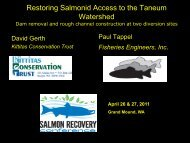 Restoring Salmonid Access to the Taneum Watershed - Washington ...