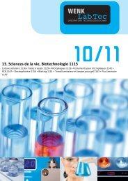 13. Sciences de la vie, Biotechnologie - Wenk Lab Tec