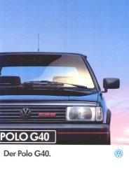 Prospekt VW Polo G40 ab 08/1991