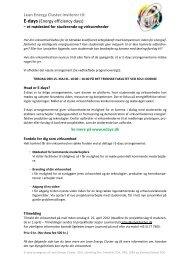 Lean Energy Cluster inviterer til: E-days (Energy efficiency days)