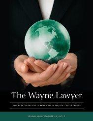 The Wayne Lawyer - Wayne State University Law School