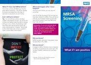 MRSA Screening - What if I am Positive