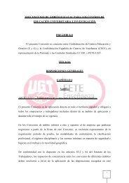 XIII Convenio Universidades privadas e Investigación - FETE-UGT