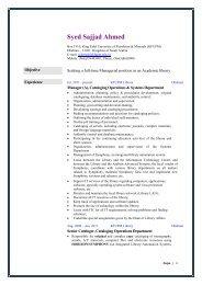 My CV - KFUPM - King Fahd University of Petroleum and Minerals