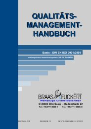 qualitäts- management - BRAAS & FUCKERT Gmbh+Co KG