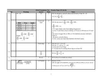 Maths Paper 2 Mark Scheme - Bedford Academy