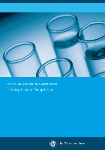 The Supervisor Perspective - Wellcome Trust