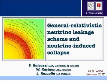 General-relativistic neutrino leakage scheme and neutrino-induced ...