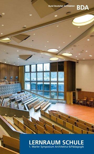 Lernraum Schule - Bund Deutscher Architekten BDA