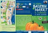 MARKT BAUERN 5. – 7. Oktober 11. Kieler 10 - Kiel Sailing City