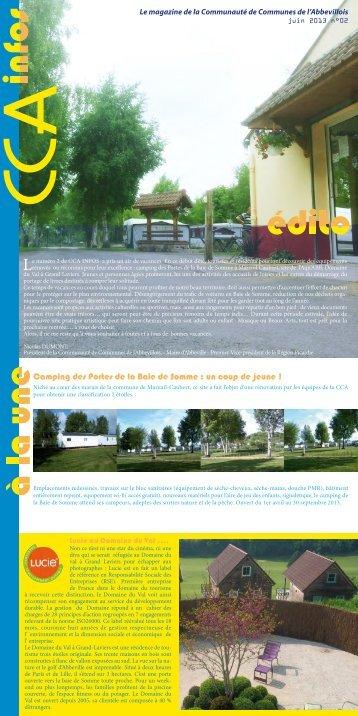 CCA infos n°02 - Communauté de Communes de l'Abbevillois