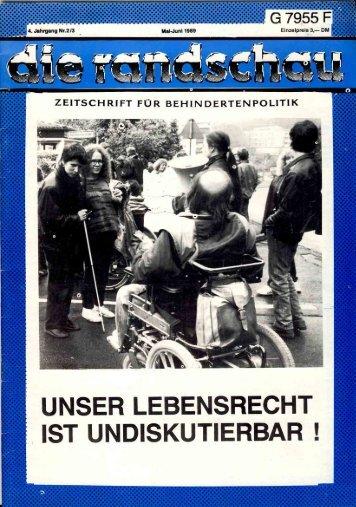 Unser Lebensrecht ist undiskutierbar! - von Martin Seidler, Berlin
