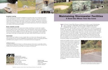 Maintaining Stormwater Facilities - Chester County