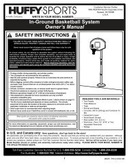 In-Ground Basketball System Owner's Manual - Cheap Pool Products