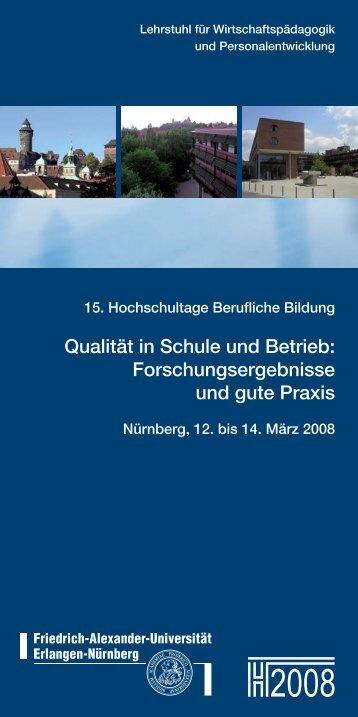 Qualität in Schule und Betrieb: Forschungsergebnisse ... - Dblernen.de