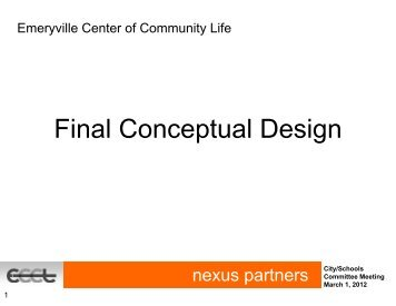 Final Conceptual Design - Emeryville Center of Community Life