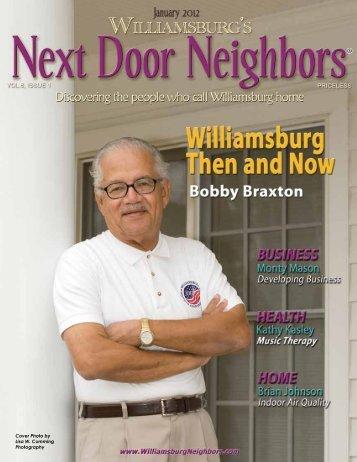 January - Williamsburg , VA Magazine , Next Door Neighbors