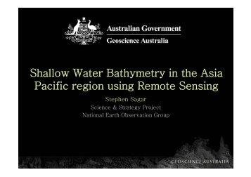 ALOS Bathymetry applications (S Sagar) - APRSAF