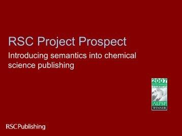 RSC Project Prospect - CrossRef