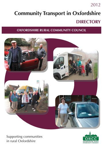 Community Transport in Oxfordshire DIRECTORY