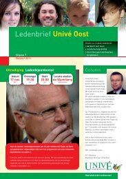 Aandacht voor leven Spreker Ledenbijeenkomst - Univé Oost
