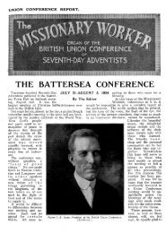 THE BATTERSEA CONFERENCE - Adventisthistory.org.uk