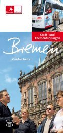 Guided tours Stadt- und Themenführungen - Bremen + Bremerhaven