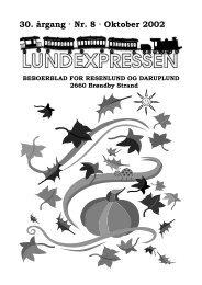 30. årgang · Nr. 8 · Oktober 2002 - lundens.net