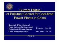 Current Status of Pollutant Control for Coal-fired Power Plants in China