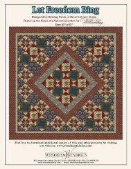 Let Freedom Ring FREE pattern from Windham Fabrics!!