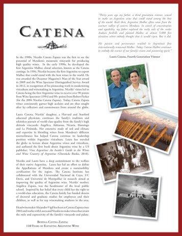 catena cabernet sauvignon 2010 - Winebow