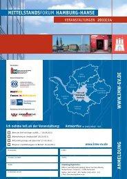 Flyer FORUM MITTELSTANDSFORUM HAMBURG-HANSE 2013/2014 als Download ...