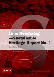 Lime Rendering—Sustainable Heritage Report No. 1
