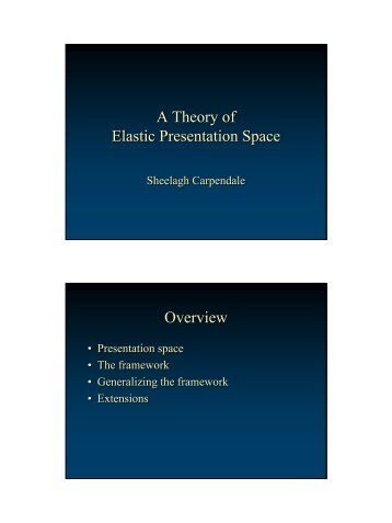 A Theory of Elastic Presentation Space A Theory of Elastic ... - InnoVis
