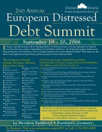 European Distressed European Distressed - ALM Events
