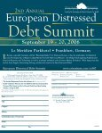 European Distressed European Distressed - ALM Events - Page 6