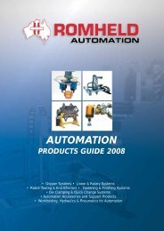 Download the Romheld Automation Products guide PDF (3Mb)