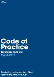 Code of Practice - Enterprise Inns