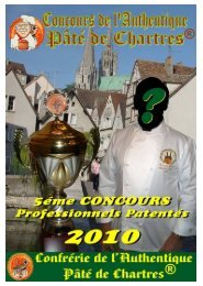 Dossier Concours Pro - Ordre Culinaire International