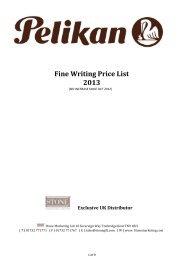 Pelikan Fine Writing Price List 2013.xlsx - Stone Marketing