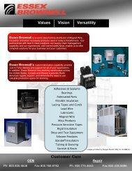 Values Vision Versatility Customer Care - Superior Essex
