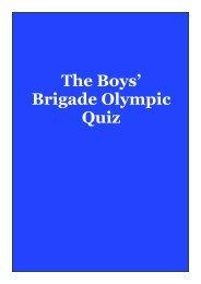 The Boys' Brigade Olympic Quiz