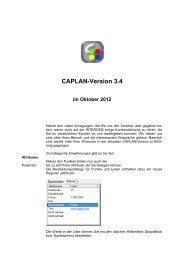 Caplan-Version 3.4 im Oktober 2012 - Cremer ...