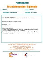 Testo informativo - Istituto Scolastico Comprensivo Lorenzo Lotto, Jesi