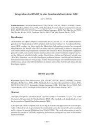 Integration des BIS-BY in eine Geodateninfrastruktur GDI