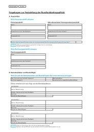 Fragebogen zur Feststellung der Rundfunkbeitragspflicht - Arval
